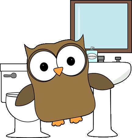 433x450 Owl Bathroom Monitor Clip Art