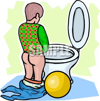 346x350 Royalty Free Clipart Image Cartoon Of A Young Boy Learning To Use