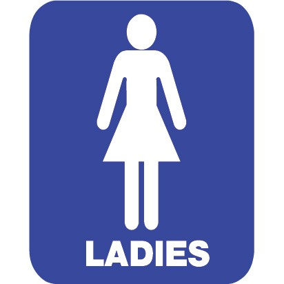 412x412 Ladies Bathroom Sign Group (62+)