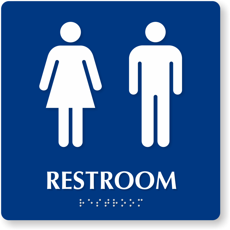 800x800 Men Women Bathroom Signs