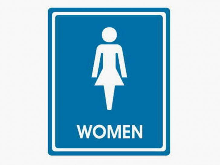 728x546 Bathroom Women#39s Sign 22 Wedding Womens Picture Signs