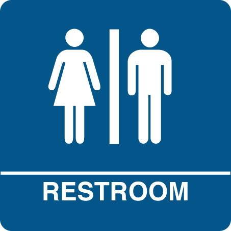 453x453 Bathroom Break Sign