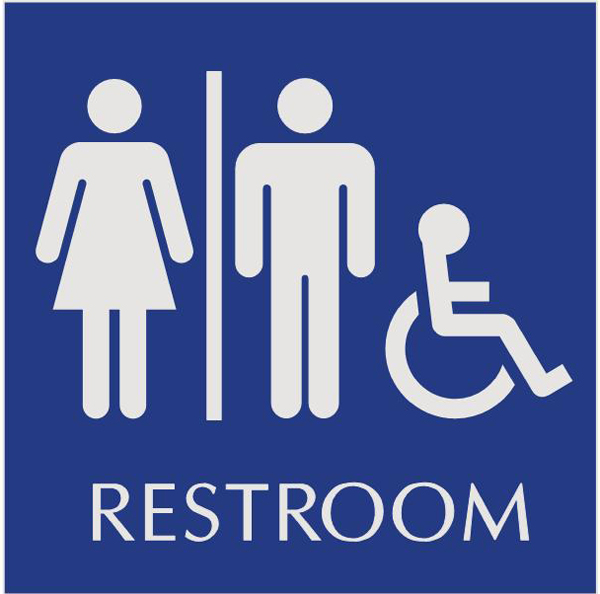 600x594 Bathroom Sign Clipart#2174686