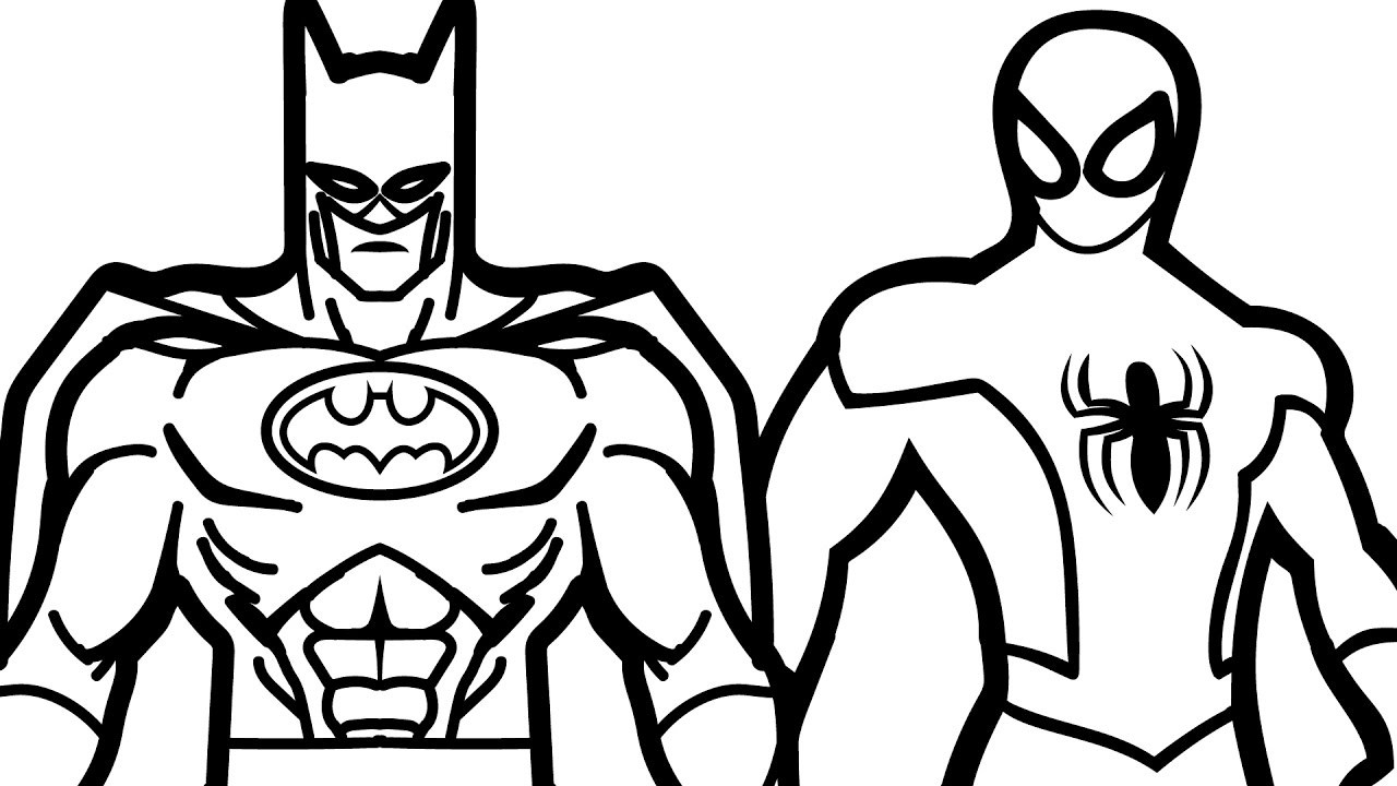Batman coloring pages cartoon. Free download best on