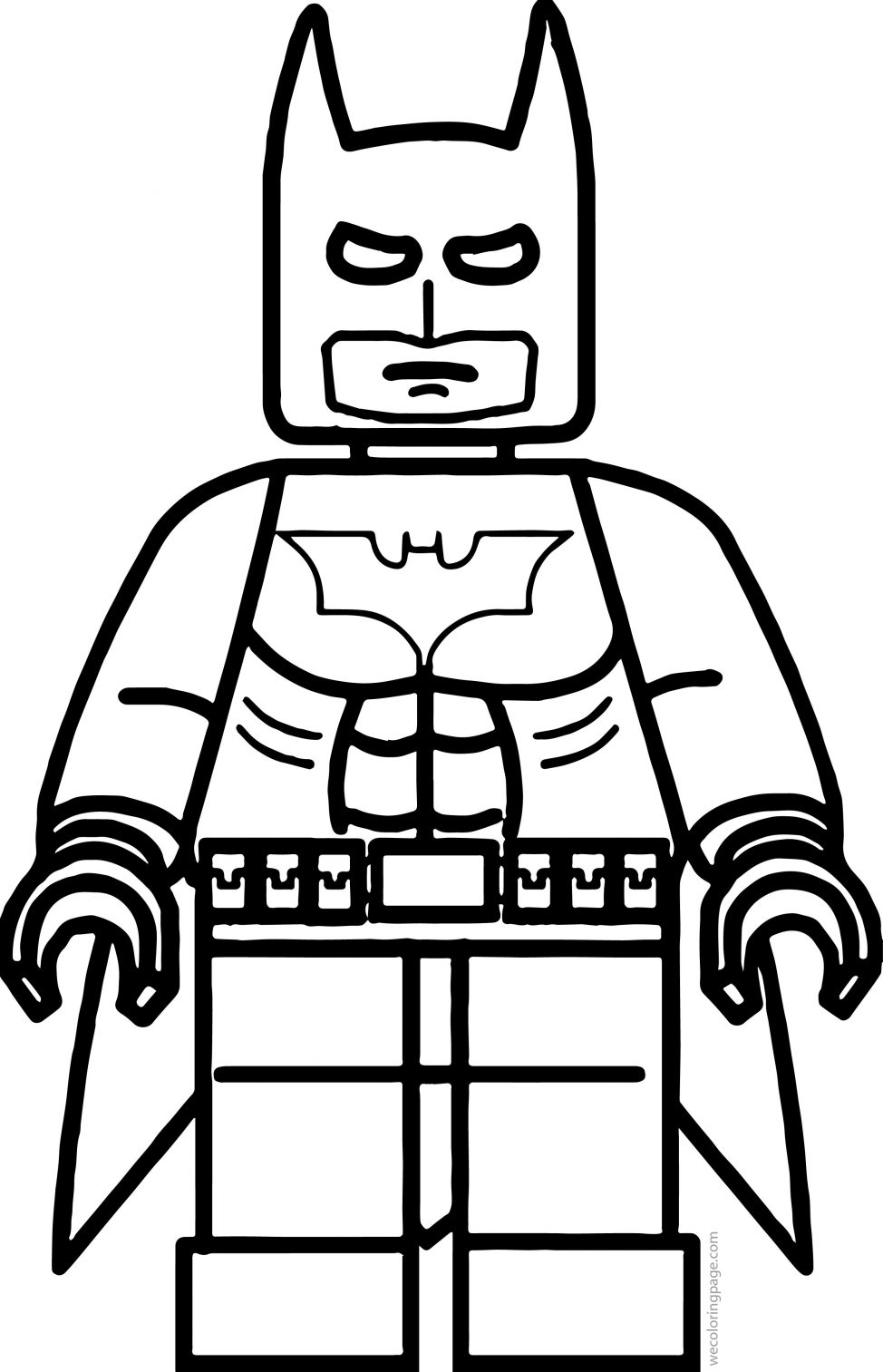 It is a photo of Wild Coloring Pages Lego Batman