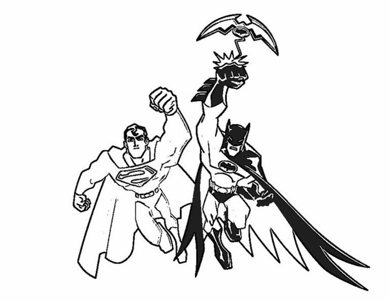 770x595 Batman And Superman Coloring Pages For Print Super Heroes