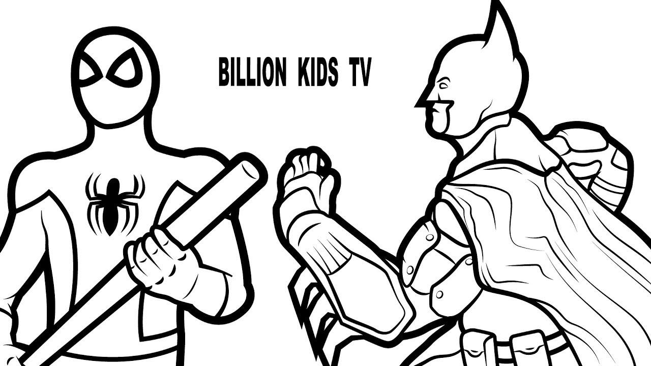 1280x720 Spiderman Vs Batman Coloring Pages Kids Fun Art Coloring Pages