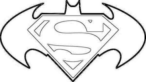 600x337 batman coloring pages crayola photo printable 18 superman logo - Batman Coloring Pages