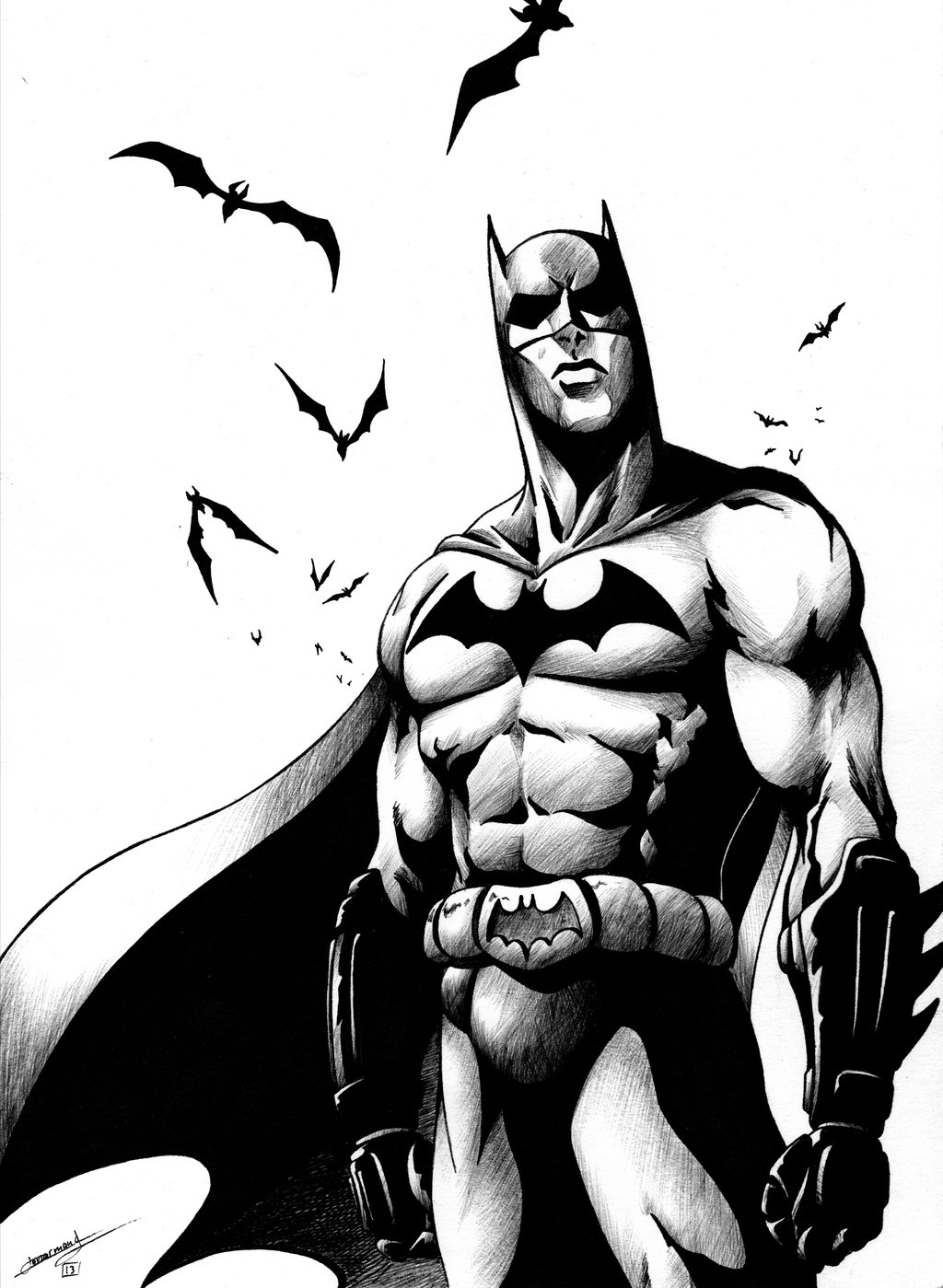 1024x1399 15 Batman Black And White Pictures Collections Black And White