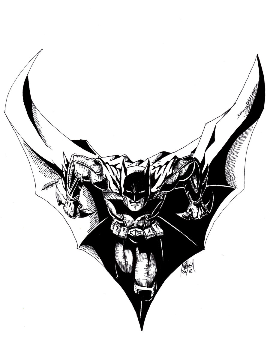 900x1165 Batman Black And White By Vail Akatosh