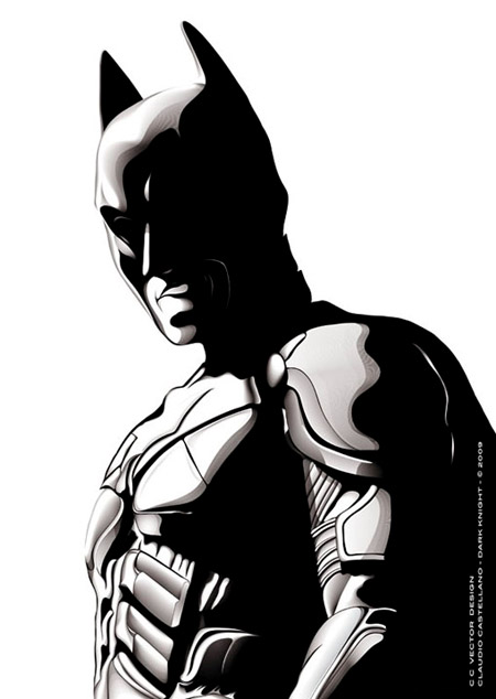450x634 Drawn Batman Black And White
