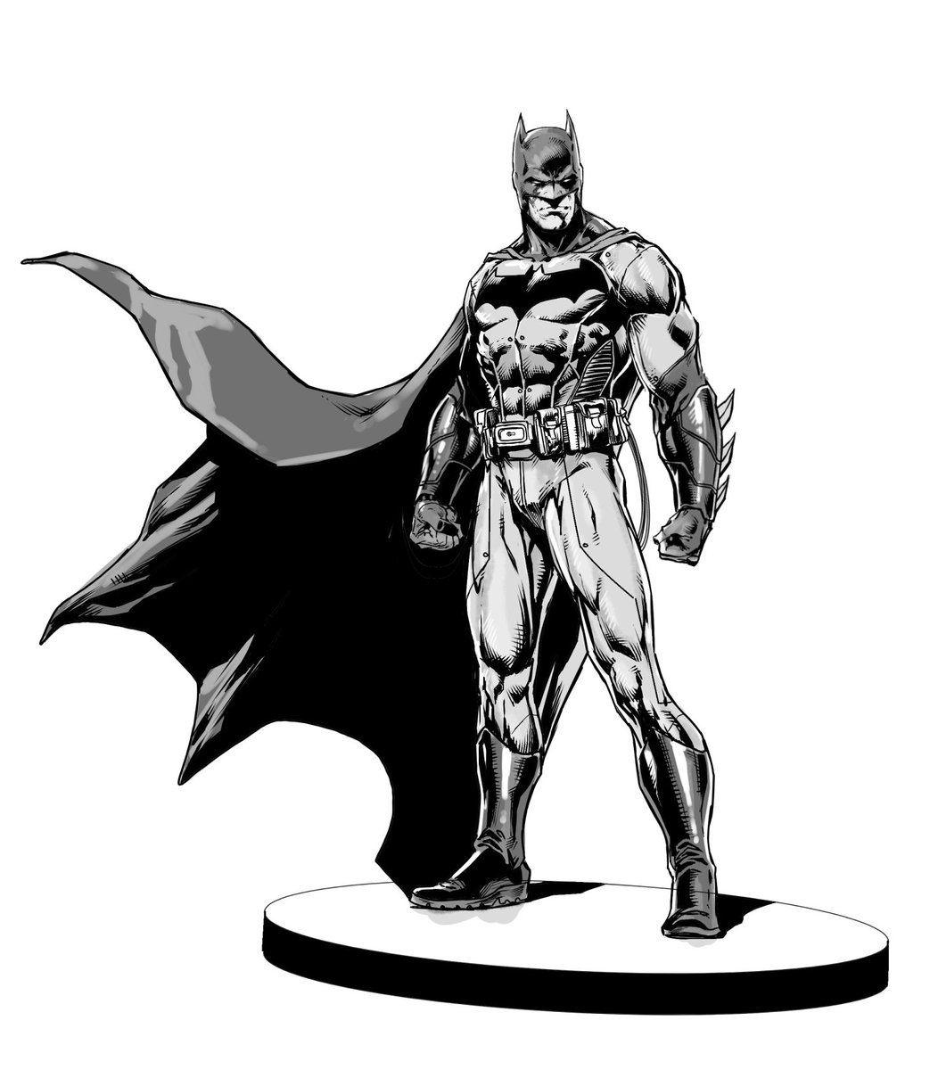 1052x1200 Jason Fabok On Twitter My Batman Black And White Statue Design