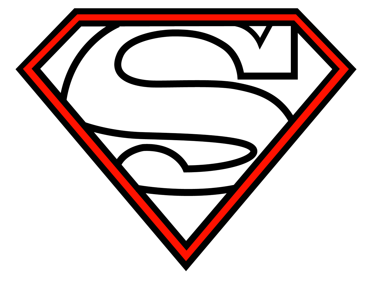 1421x1080 Pin Superman Logo Outline On Clipart Panda