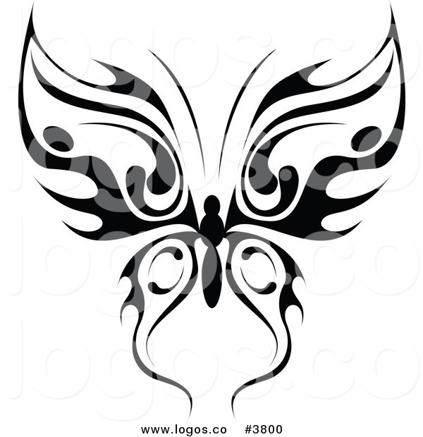 600x620 Royalty Free Tribal Butterfly Logo By Vector Tradition Sm