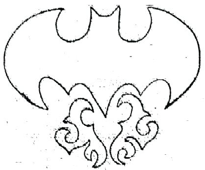 418x346 Batman Logo Outline Cool Batman Symbol Tattoo Design Batman Logo