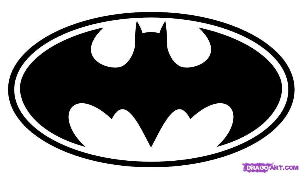Batman symbol cool. Logo outline free download