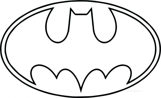 Nifty image within free printable batman logo coloring pages
