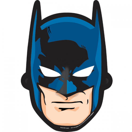 560x560 Batman Paper Mask 8ct Wally's Party Factory