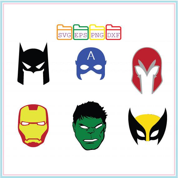 570x570 Hulk Captainiron Man Batman Mask Svg Dxf Png Epscutting