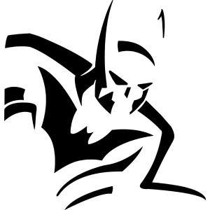 Batman Stencil Clipart