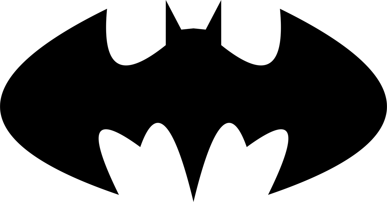 1600x836 Pixel Clipart Batman Symbol