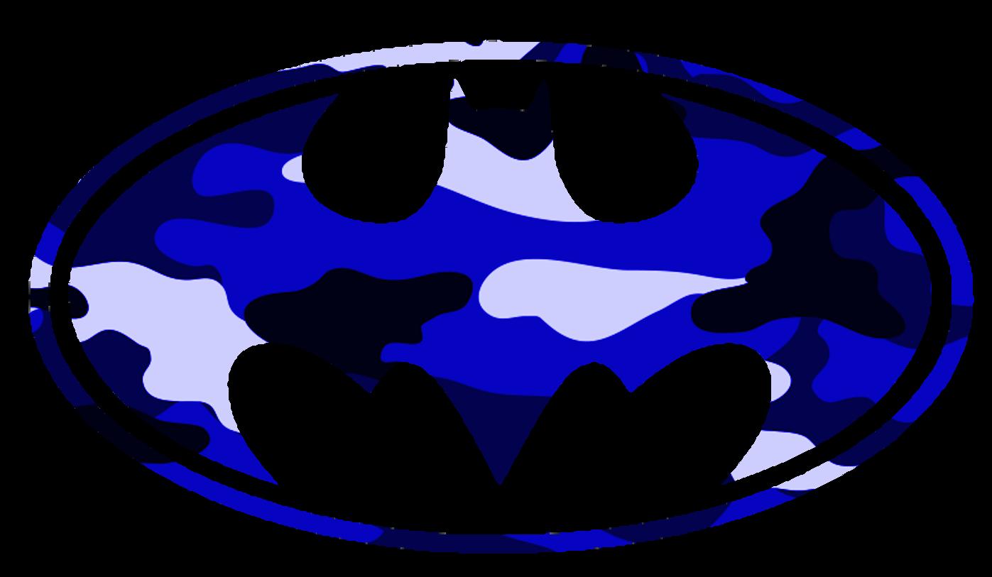 1397x813 Batman Logo Blue Camo Free Images