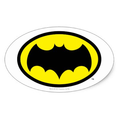400x400 Batman Symbol Classic Logo Classic Round Sticker