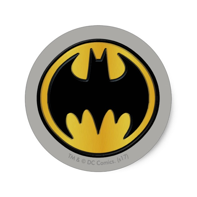 630x630 Batman Symbol Classic Round Logo Classic Round Sticker Zazzle.ca