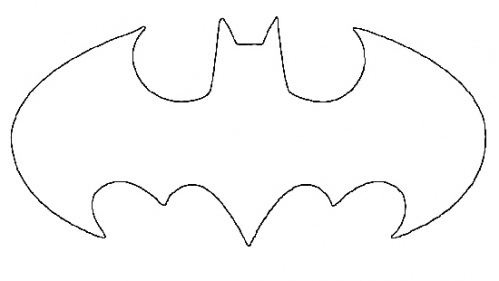 photograph relating to Batman Symbol Printable called Batman Brand Define Cost-free down load perfect Batman Brand