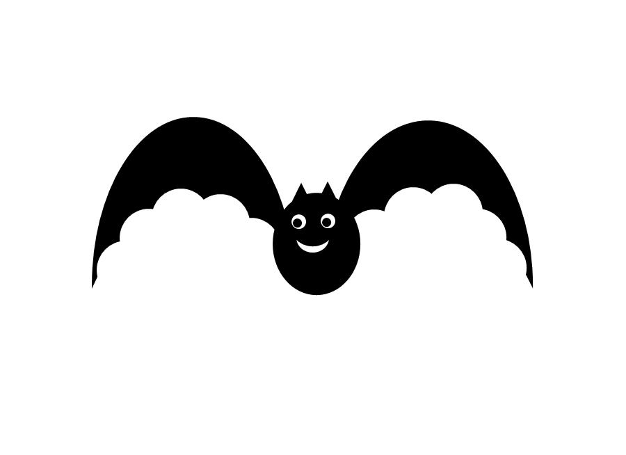 900x654 Bat Clipart Simple
