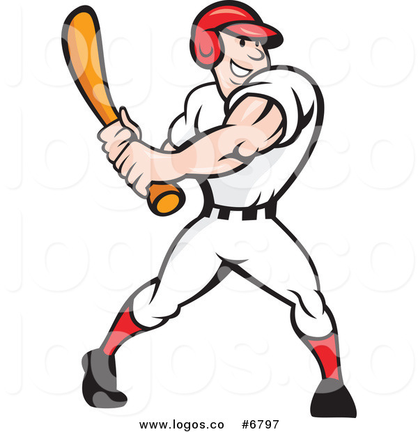 600x620 Royalty Free Clip Art Vector Logo Of A Happy Baseball Player