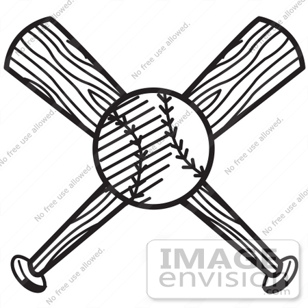 450x450 Royalty Free Black And White Cartoon Clip Art Of A Baseball Over