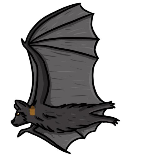500x500 Bat Clipart Colorful