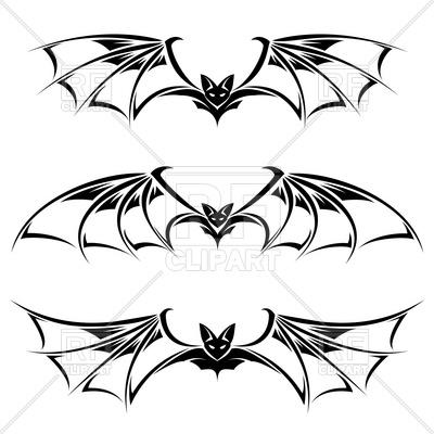 400x400 Flying Bat Royalty Free Vector Clip Art Image