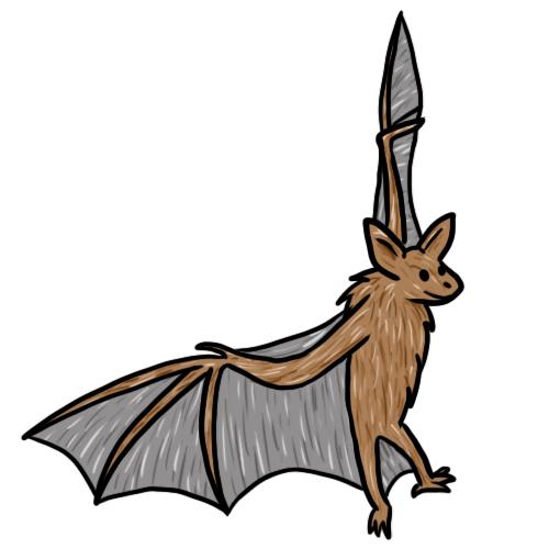 500x500 Free Bat Clip Art Drawings Andlorful Images 6