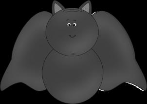 302x213 Halloween Bat Clip Art