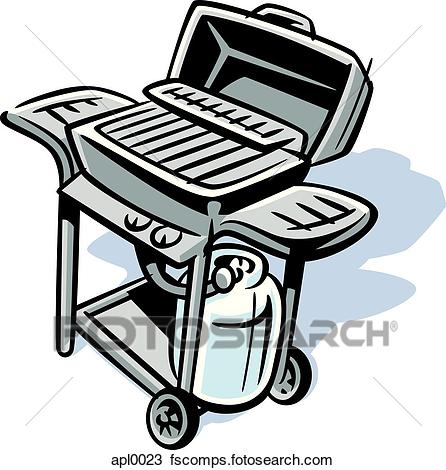 446x470 Drawing Of An Illustration Of A Barbeque Grill Apl0023