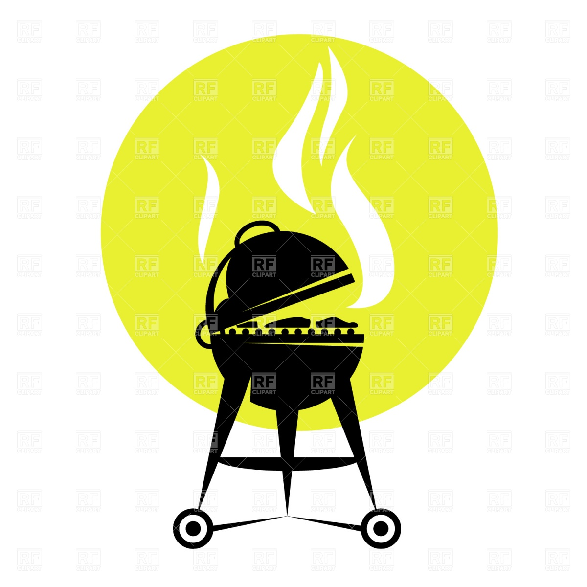1200x1200 Summer Backyard Fun Bbq Or Grilling Barbecue Royalty Free Vector