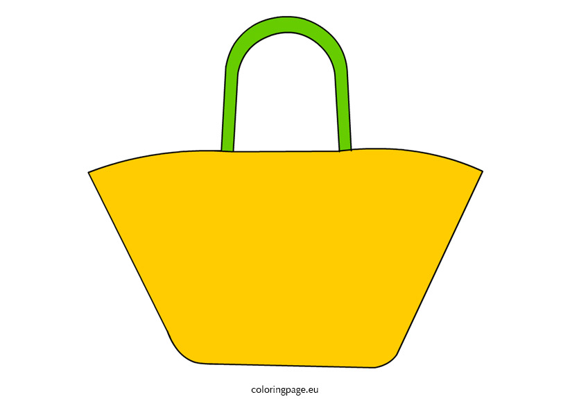 822x575 Beach Bag Clip Art Coloring Page