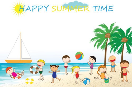 500x330 Children Summer Camp Free Vector Download (3,711 Free Vector)