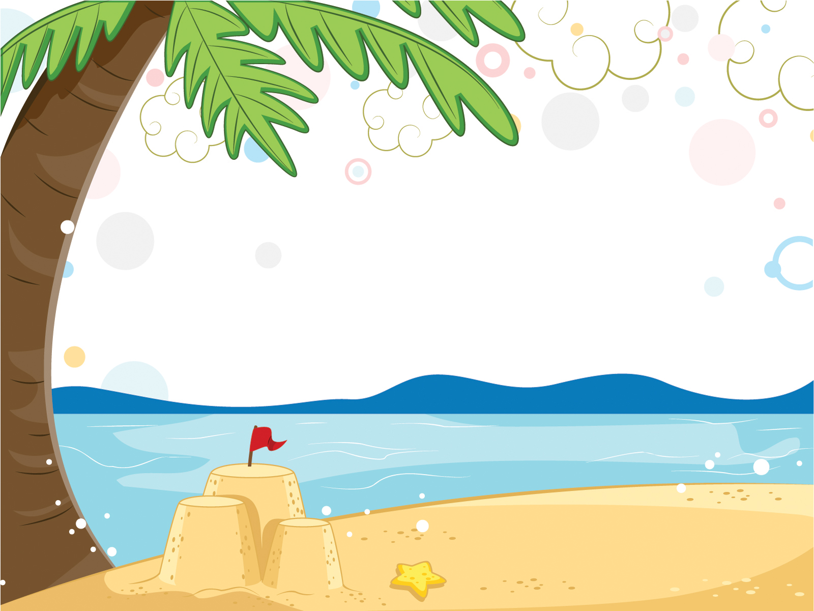1600x1200 Wonderful Views Of The Beach Powerpoint Templates