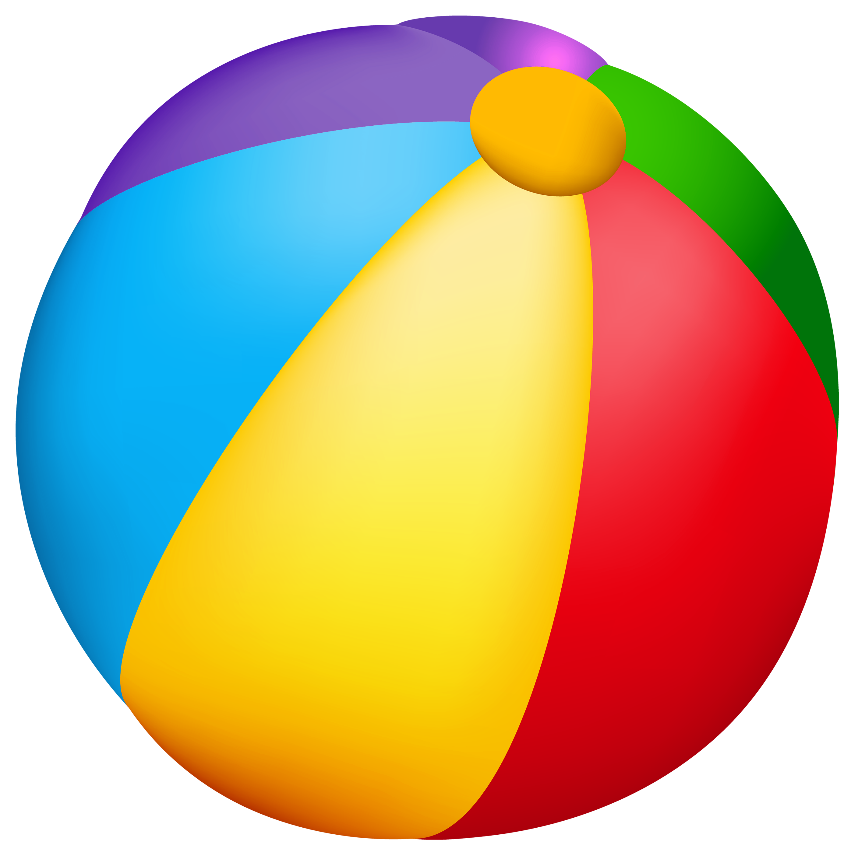 2794x2800 Beach Ball Vector Clipart