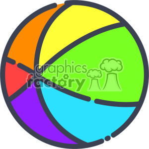 300x300 Royalty Free Beach Ball Clip Art Vector Images 403915 Vector Clip