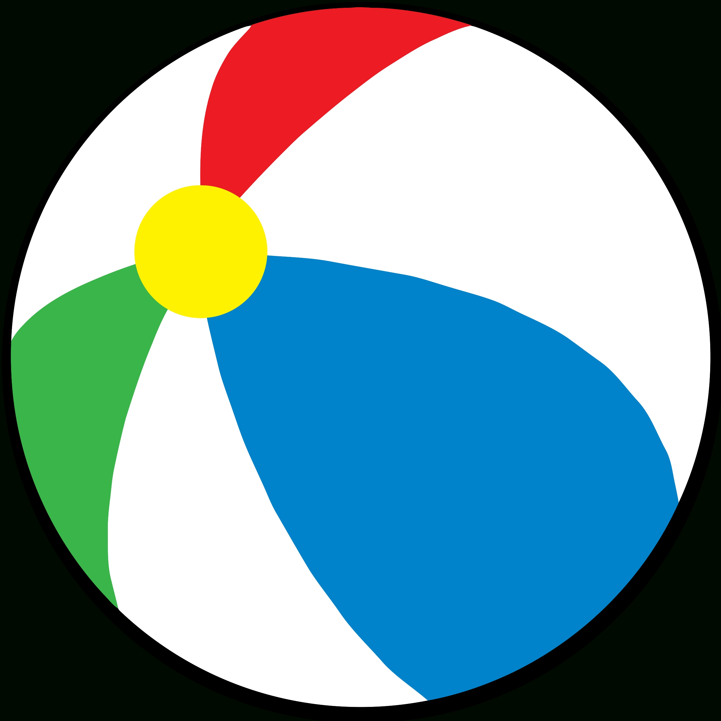 2400x2400 Top 61 Beach Ball Clip Art