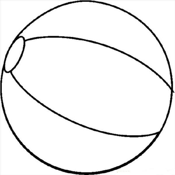 Beach Ball Clipart Black And White