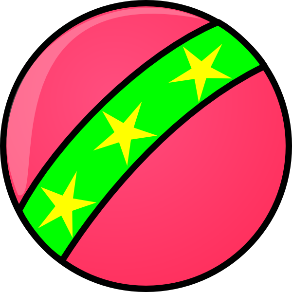600x600 Toy Ball With Stars Clip Art