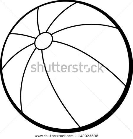 450x470 Beach Ball Clip Art Black and White – Cliparts