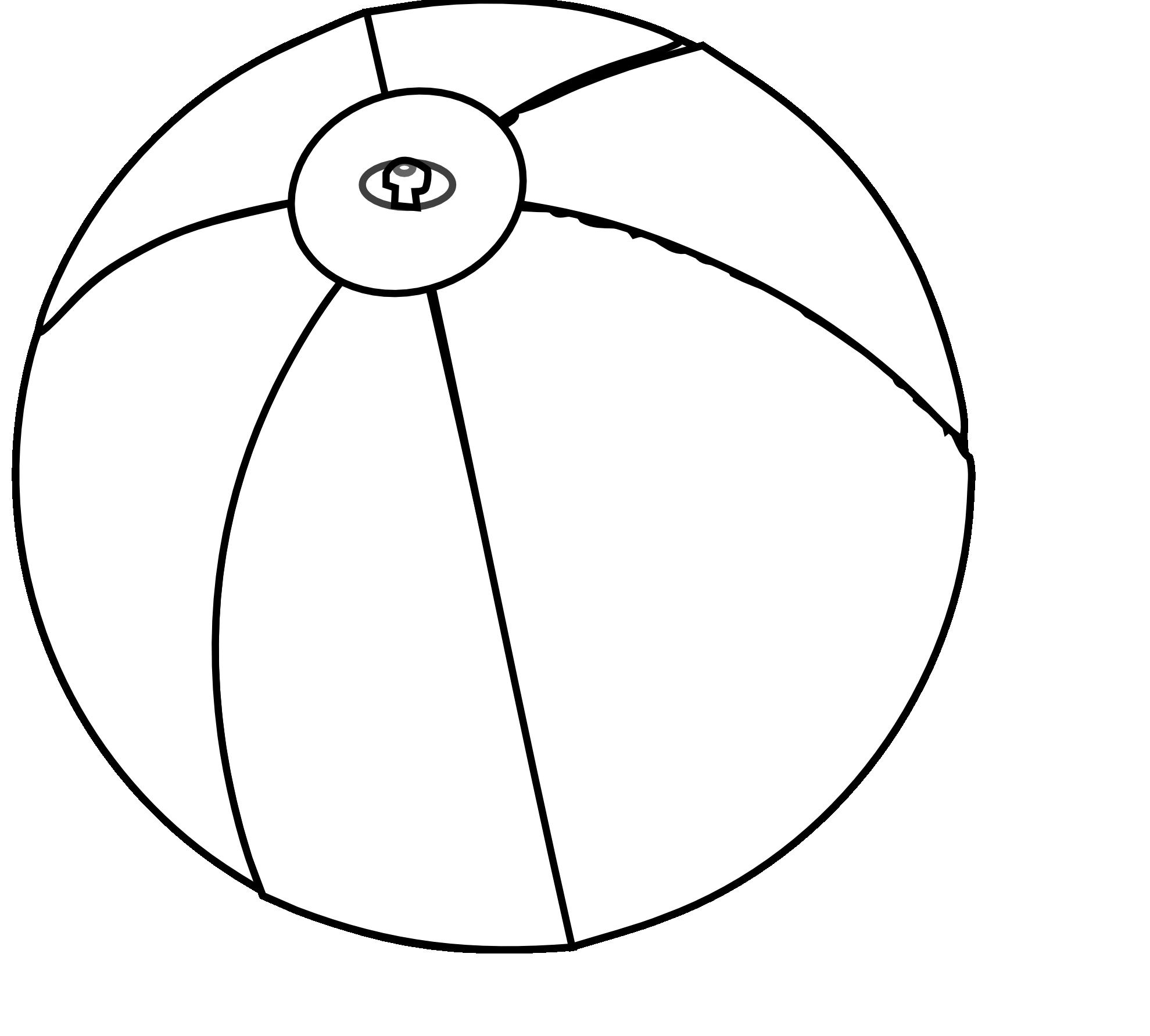 1979x1783 Beach ball black white cliparts