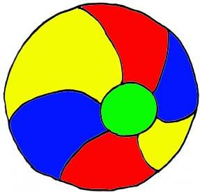 287x275 Beach Ball Clip Art 2