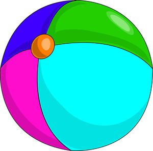 300x297 Beach Ball Clipart 2